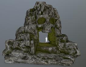 snow skull cave 3D model VR / AR ready