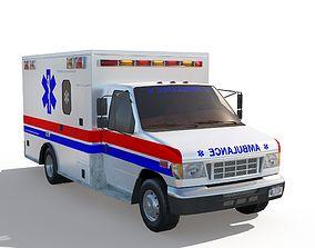 Ambulance Truck 3D asset