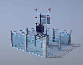 Railway RW Power Station 3D asset