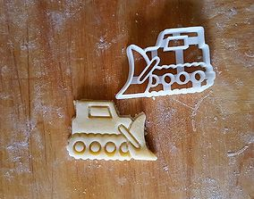 3D print model Bulldozer Plow cookie cutter