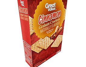 3D model Great Value Grahams Crackers Cinnamon 3 Packs 14