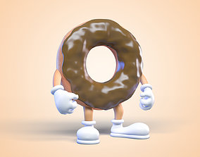 Donut man Character 3D