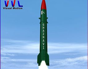 3D model Hatf-III Ballistic Missile