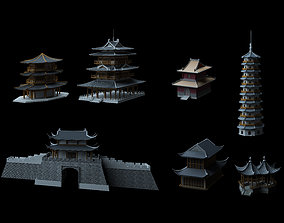3D model Ancient Chinese Architecture castle
