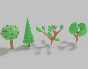STYLIZED TREES 3D asset realtime