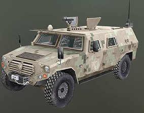 3D asset Dongfeng Mengshi CSK131 armored car