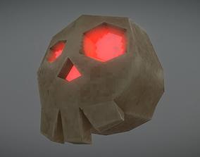 Pixelated Fantasy Skull 3D model