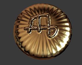 Zodiak sign Virgo Coin 3D print model