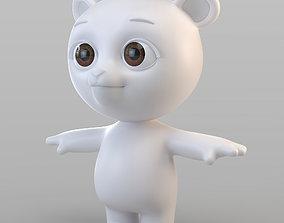 3D model Cartoon Biped Bear