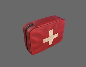 3D asset VR / AR ready PBR First Aid Kit