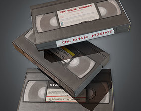 3D asset VHS Tapes Set 1 80s