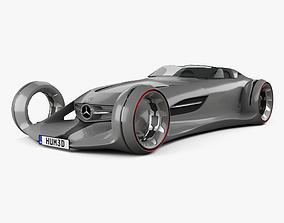 3D model Mercedes-Benz Silver Arrow 2016