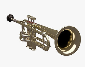 Trumpet 001 3D model