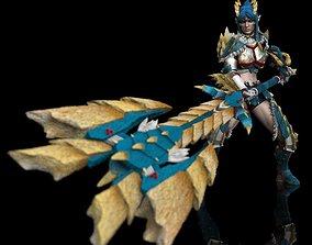 3D printable model Monster Hunter Zinogre Armor Statue