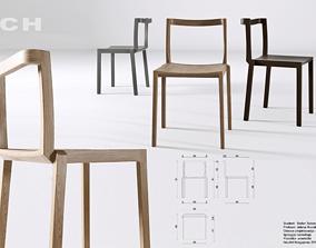 Wood Chair 3D empty