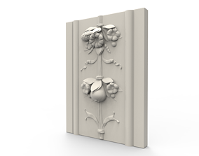 3D printable model Flower Wall Relief Sculpture