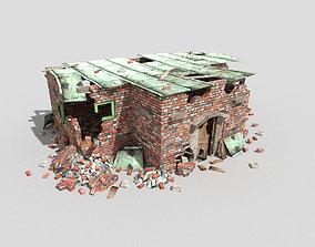 3D model destroyed building 3