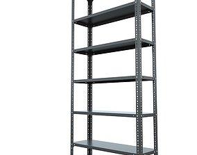 Steel Rack modular shelving library 3D model