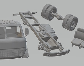MAZ 500 Printable Truck