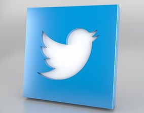 3D model Twitter Icon Logo