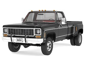 3D GENERIC 4WD DUALLY PICKUP TRUCK 8