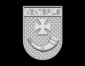 3D print model Ventspils coat of arms