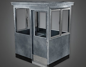 MLT - Military Metal Outdoor Security Booth - 3D asset 2