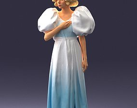 Girl in ball gown 0906 3D Print Ready