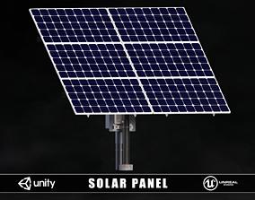 3D asset low-poly Solar Panel