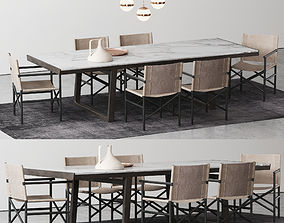 3D Poliform Opera Dining table set