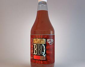 Bottle Of Sauce Atlanta BBQ 3D model