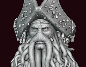3D printable model Davy Jones Head