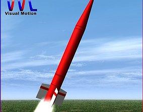 Hatf-IB Ballitic Missile 3D model