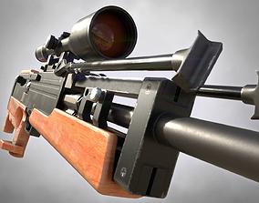 3D asset WA 2000 Sniper Rifle PBR