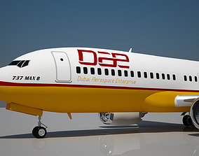 Dubai Aerospace Enterprise 737 MAX 8 3D model