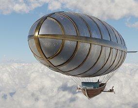 Steampunk airship 3D model