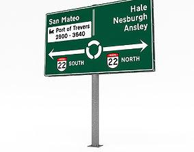3D Traffic Sign Model 01 realtime