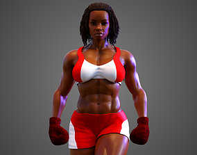 Female African BOX - MMA Fighter 3D