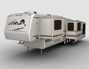 5th Wheel teton Trailer 3D model