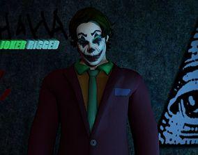 The Joker Rigged 2018 3D asset