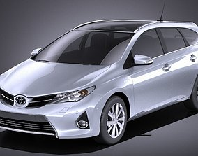 Toyota Auris 2015 Touring Sports VRAY 3D model