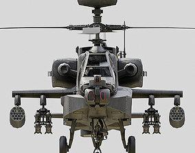 3D asset Apache AH64D LOW