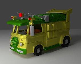 volkswagen van cartoon Teenage Mutant 3D printable model 3