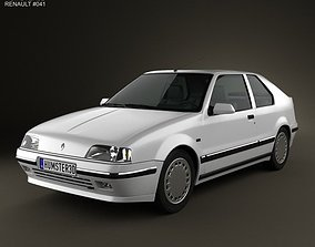 3D Renault 19 3-door hatchback 1988