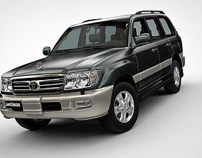 3D Toyota Land Cruiser 100