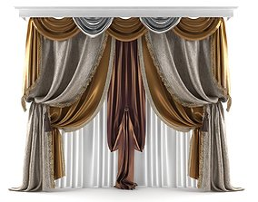 architectural 3D model Classic Curtain