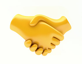 3D model EMOJI HANDSHAKE ICON