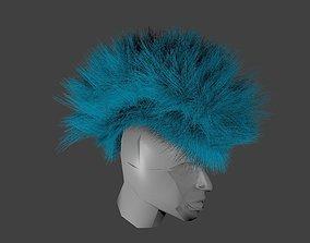3D asset Hairstyle original blue