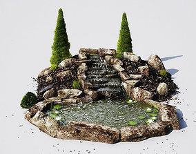 3D model garden pond 13 AM148