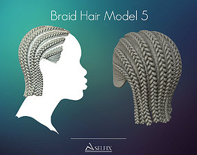Braid Hairstyle 05 3D print model
